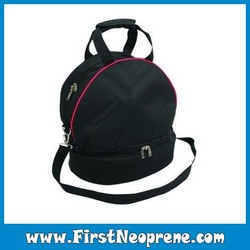 Small Size Black Dual Use Sports And Picnic Neoprene Zippered Beach Bag