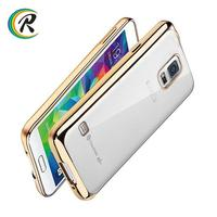 Cell phone accessories for samsung galaxy s4 cover for Galaxy Note 3 Electroplated tpu silicone wood leather soft phone case