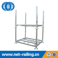 Warehouse portable steel foldable stack rack