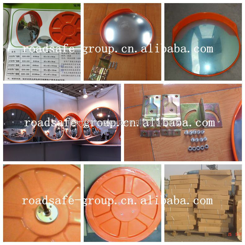 Traffic diameter 60cm high quality road glass convex mirror