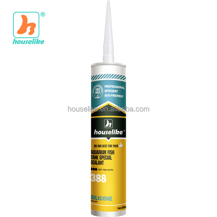 388 Aquarium 100% Quick Drying High Temp Acetoxy Silicone Sealant
