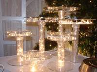 Lighted acrylic cake stand for wedding