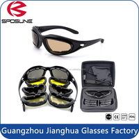 Highly clarity of vision personalized shot glasses helmet night vision military goggles new designed black PC frame brown lens