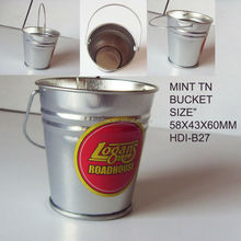 Mini easter galvanized tin bucket