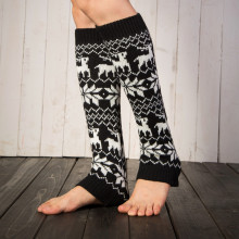 women leg warmer crochet knitted
