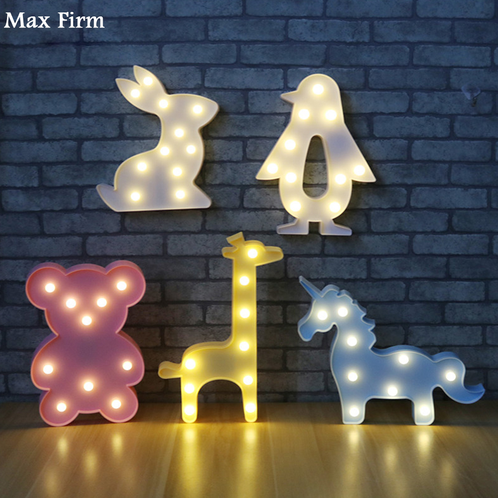 Novelty Luminaria Moon 3D Lamp Wood Cloud Star Marquee Letter LED Night Light For Kids Decor
