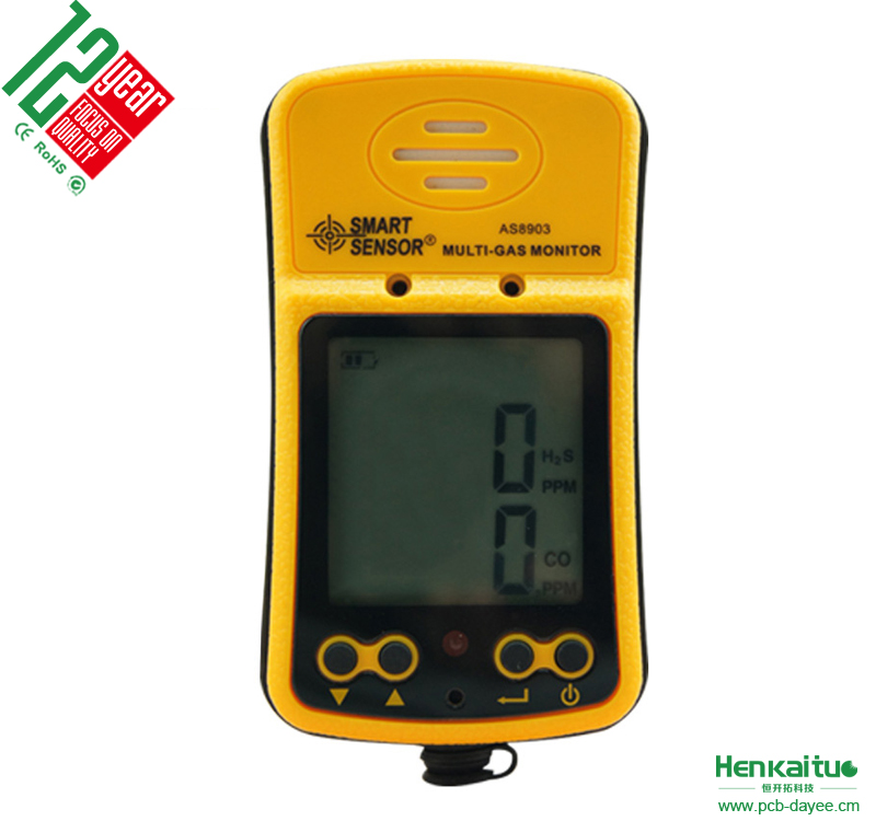 Handheld Carbon Monoxide Detector AS8903 Digital Multi Gas CO Hydrogen Sulfide Gas Meter