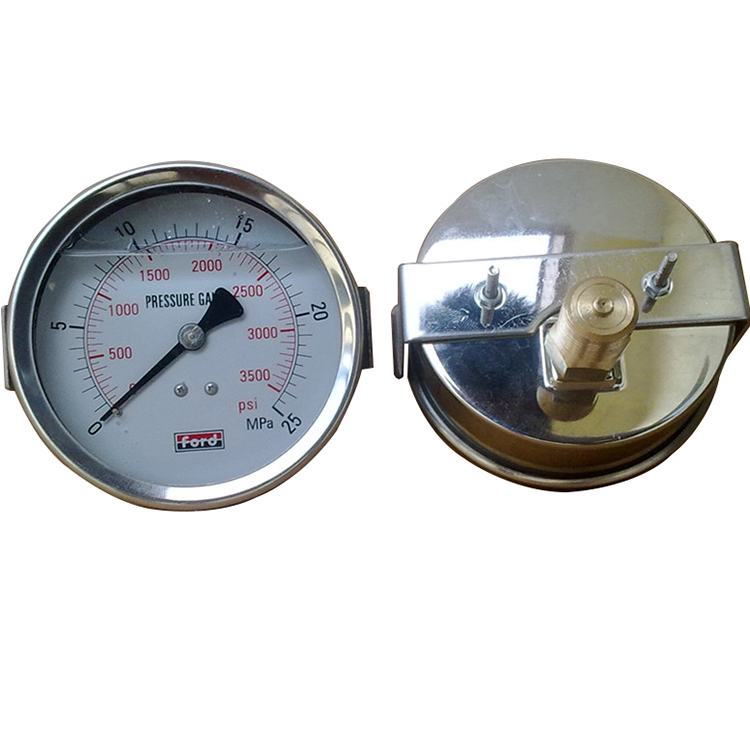 High quality pressure gauge All stainless steel oil filled manometer