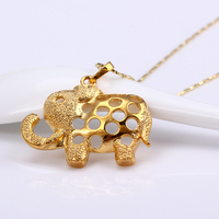 2016 The new listing simple lovely cheap 24k gold elephant pendant
