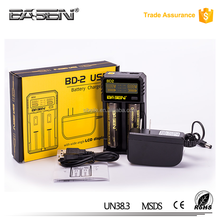 new 2016 lcd light Basen BD2 2*2A Speedy Charger & USB Power Bank For 18650 battery
