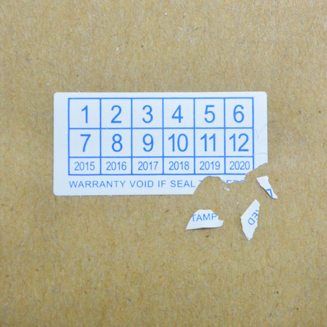 Ultra thin destructible eggshell sticker fragile udv paper sticker for electronics warranty label