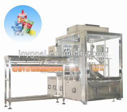 Automatic tomato sauce/condiments stand-up pouch filling and sealing machine