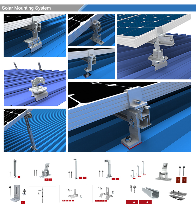 solar pv metal roof mounting system