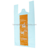 8 g small size plastic t-shirt bag for supermarket