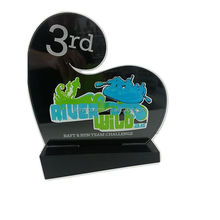 Heart Shape Black Acrylic Award Acrylic Trophy Acrylic Plaque