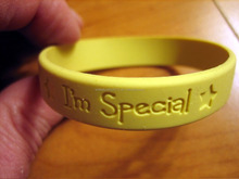 Custom Funny Debossed Embossed Silicone Wristband,adjustable silicon wristband