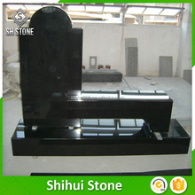 China Factory Black Granite Headstone Bench In High Quality