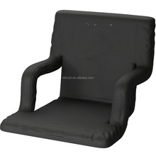 Wide Stadium Seats Chairs for Bleachers or Benches - Enjoy Extra Padded Cushion Backs and Armrests, Fit Sport Positions - Portab
