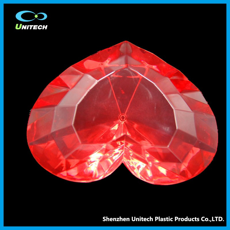 Accept Customized glass gem diamond paperweight with acrylic