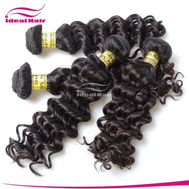 wholesales peruvian hair weaving deep wave idealhair
