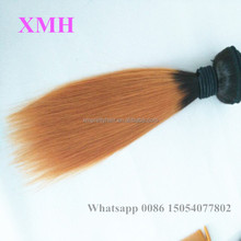 New ombre hair extension,two tone brazilian vrigin human ombre hair weaves, sew in human hair weave ombre hair