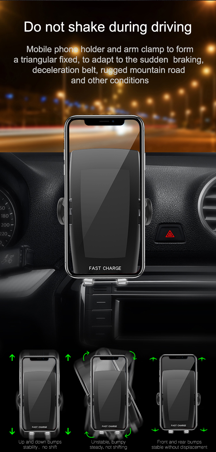Shenzhen Supply Automatic induction Qi Car Wireless Charger
