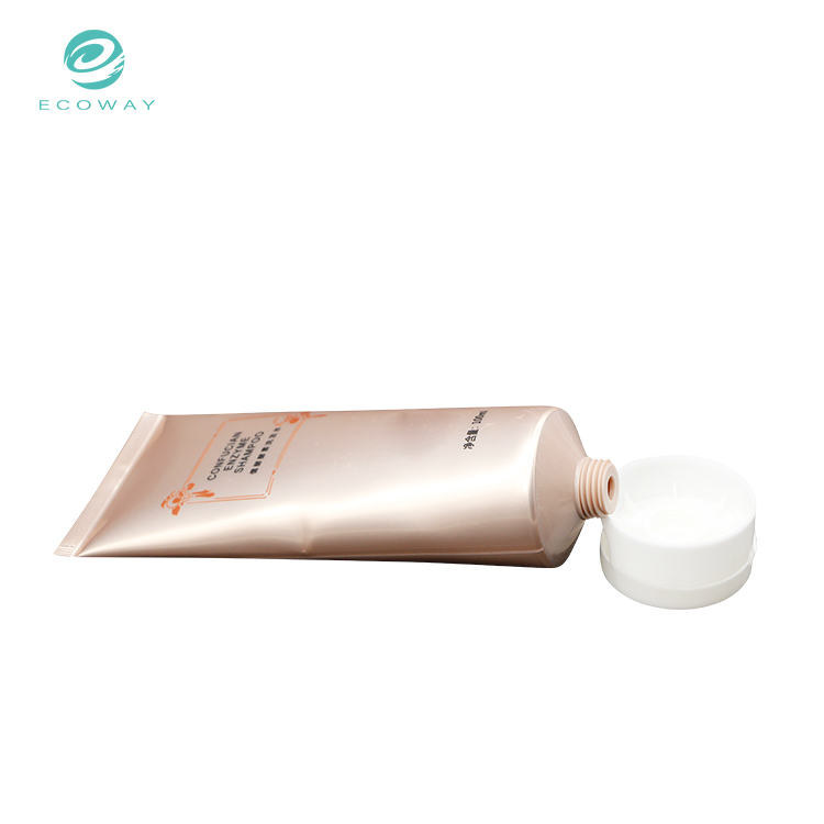 Plastic cosmetic high quality cream tube shampoo tube with flip cap