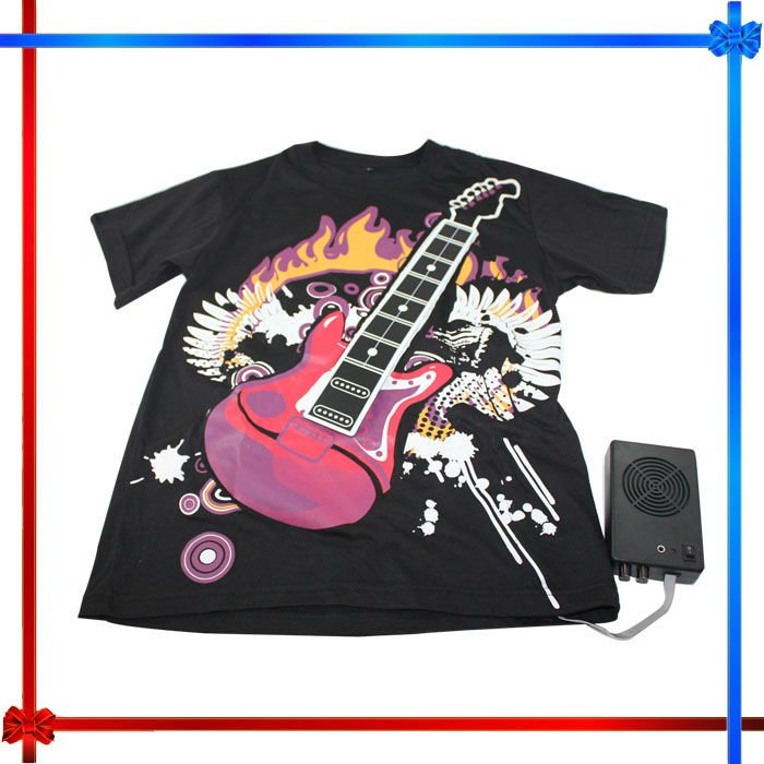 led flashing playable Electronic Rock Guitar t-shirts
