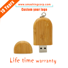 Wooden Maple Stick Design Gift Round Walnut Design USB 2.0 Flash Drive Memory Stick Disk with Box 16GB
