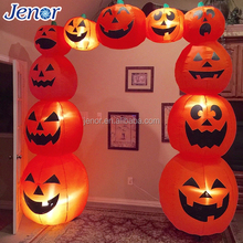 LED Lighted Airblown Inflatable Halloween Pumpkin Archway Decorations