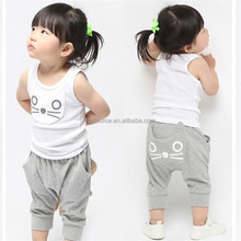 Boutique Summer Children Outfit Baby Wear Clothes cartoon print kids clothing