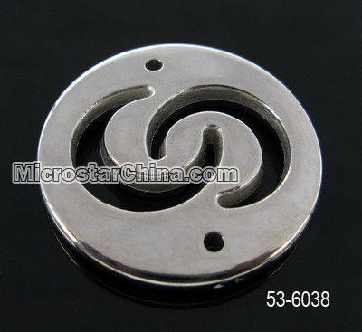 32mm Round silver nickle free abs plastic beads