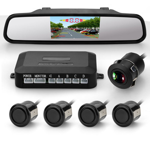 4.3 inch rear view mirror backup camera parking sensor