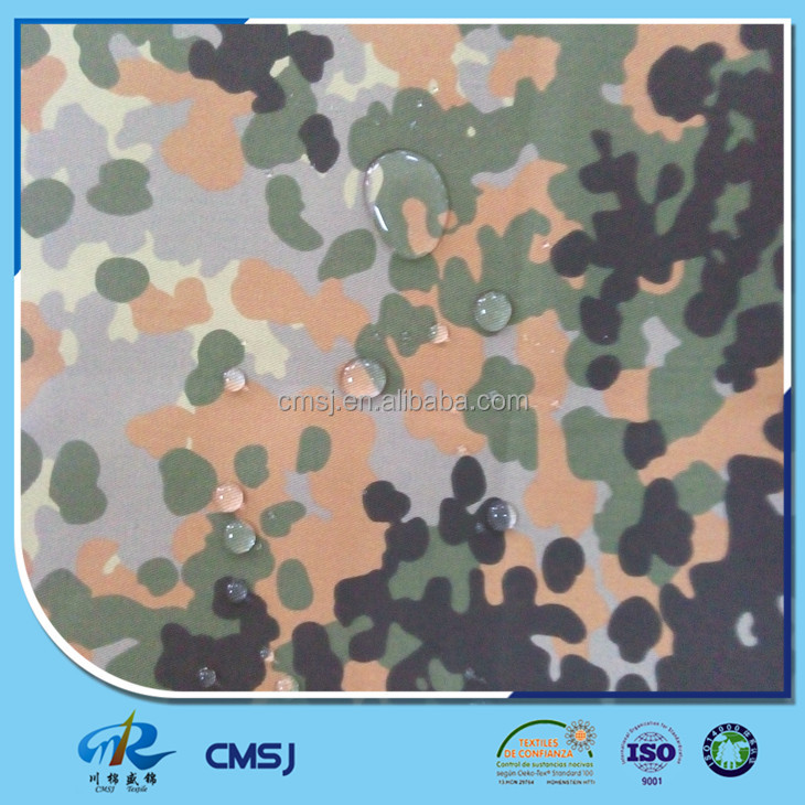 TC poly cotton water resistance/ waterproof German camouflage fabric