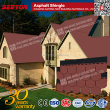 Best Sale Construction Material , Professional Red Fishscale Asphalt Tile , Bitumen Shingles