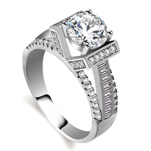 Fixed price latest designs sterling silver white gold wedding ring