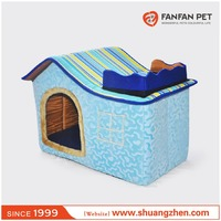 Foldable Fashion short fleece pet dog house