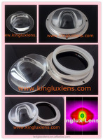 street lights modular glass lens 92mm diameter concave optical mirror