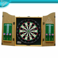Dart Board Cabinet Set with PVC laminated