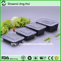 Takeaway fast food cateriing microwave Freeze safe pp food container with lids