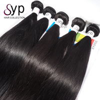 6A Grade Brazilian Silky Straight Weft Raw Unprocessed Virgin Remy Human Real Hair Extension