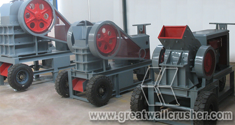 ISO CE Approval Portable Diesel Jaw Crusher