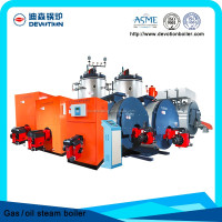 wns 5 ton diesel steam boiler for plastic hot press