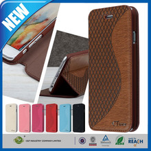 C&T Colorful Grid Grain Leather Flip Mobile Phone Case For Iphone 6 Plus