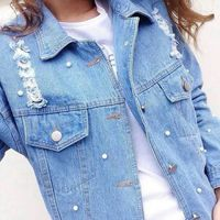 ZH0032E The new fashion young hole denim jacket