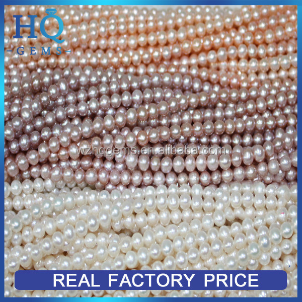 Strands loose freshwater pearl beads full hole love pearl jewelry ring