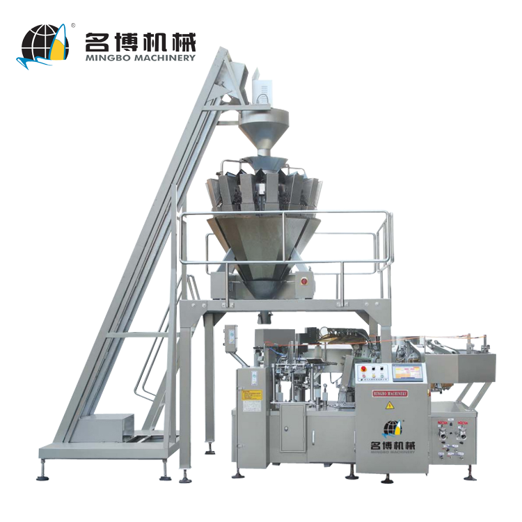 Mingbo Automatic Rotary Granular Food Vacuum Packaging Filling And Sealing Machine