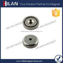 Strong force countersunk disc pot magnet, Neodymium magnetic tool holder