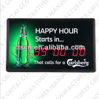 Digital Countdown Clock Promotional Fancy Wall Clock