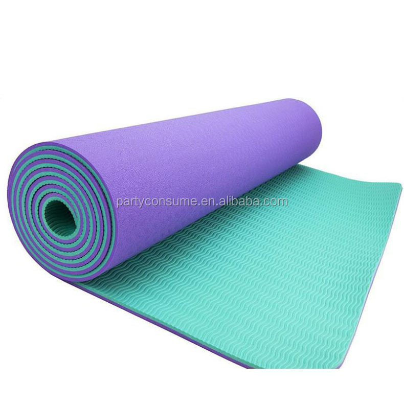 High density and resilience TPE yoga mat in Plus /big size